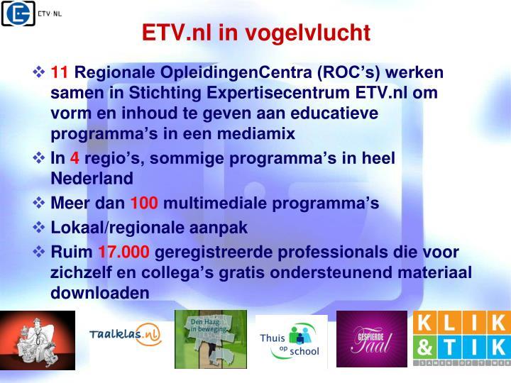ETV.nl in vogelvlucht