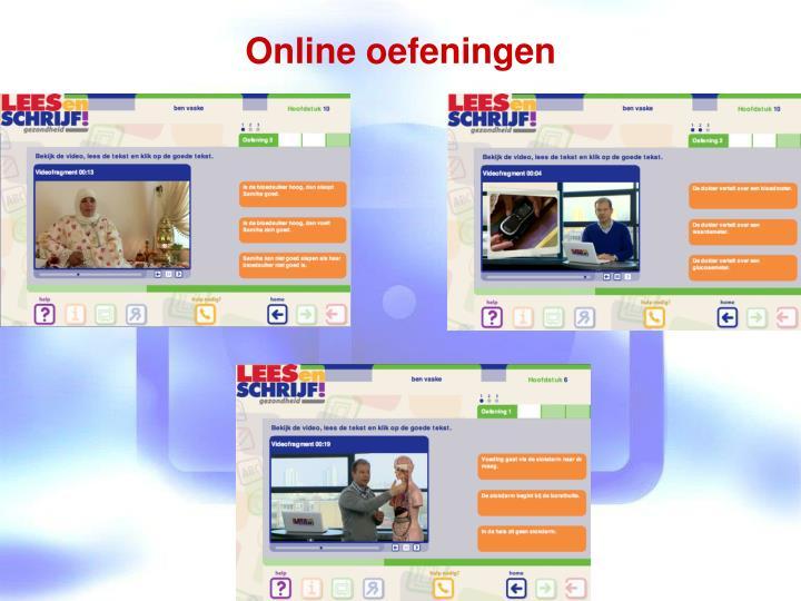 Online oefeningen