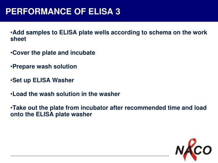 PERFORMANCE OF ELISA 3