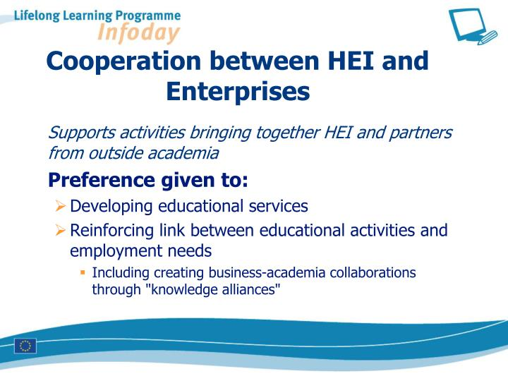 Cooperation between HEI and Enterprises