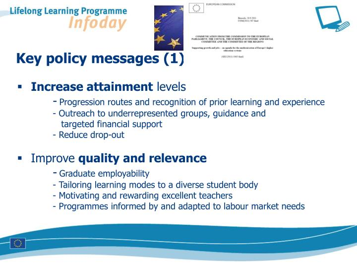 Key policy messages (1)