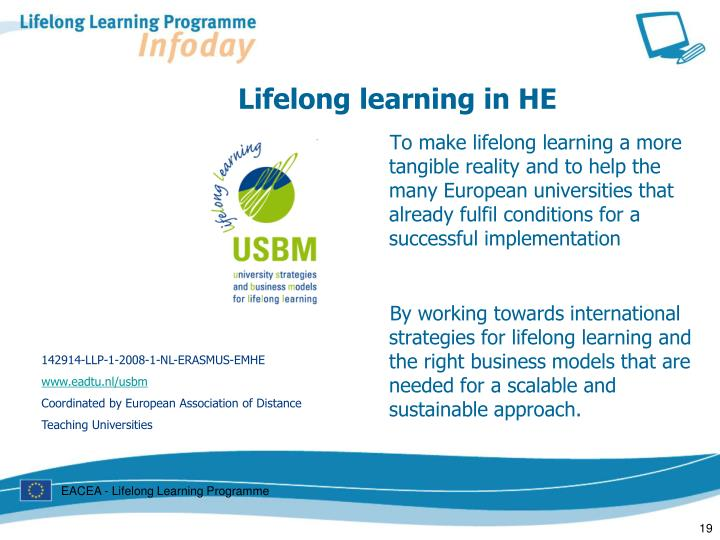 Lifelong learning in HE
