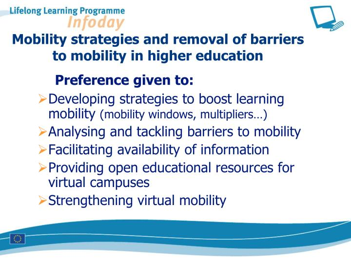 Mobility strategies and removal of barriers to mobility in higher education