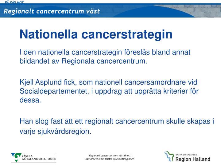 Nationella cancerstrategin