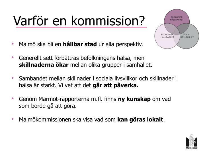Varför en kommission?