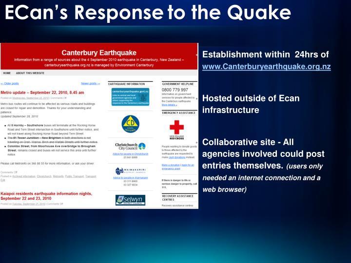 ECan's Response