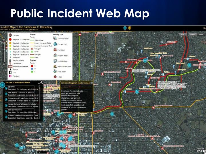 Public Incident Web Map