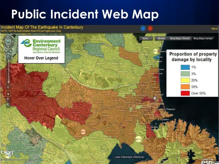 Public Incident Web Map