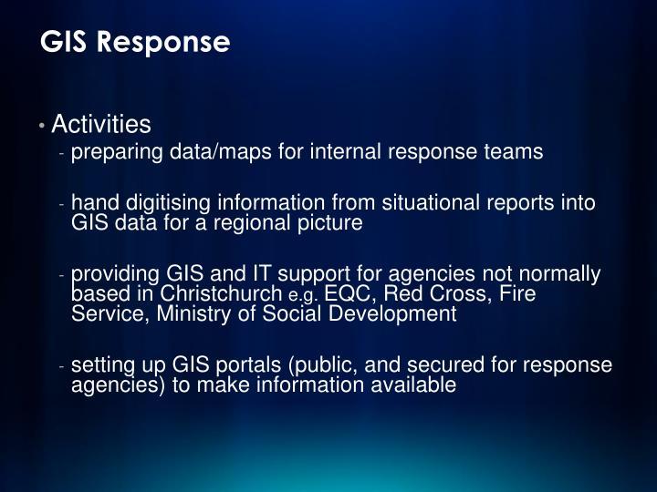 GIS Response