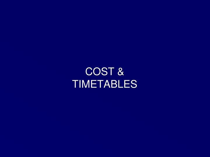 COST &