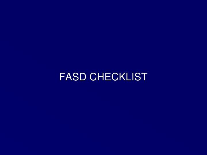 FASD CHECKLIST
