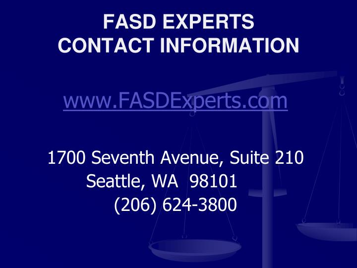 FASD EXPERTS