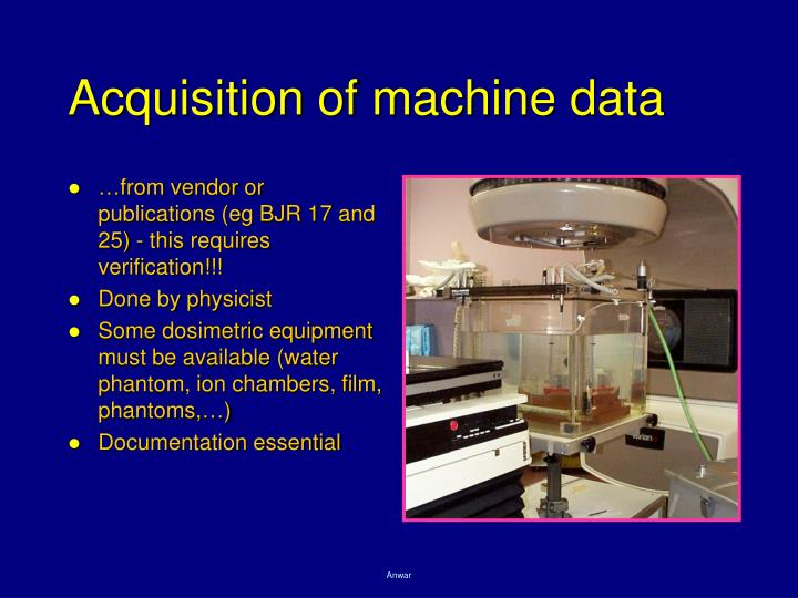 Acquisition of machine data
