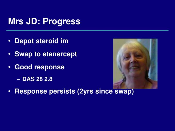 Mrs JD: Progress