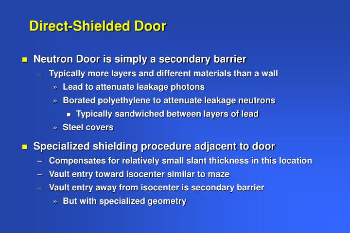 Direct-Shielded Door