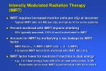 intensity modulated radiation therapy imrt