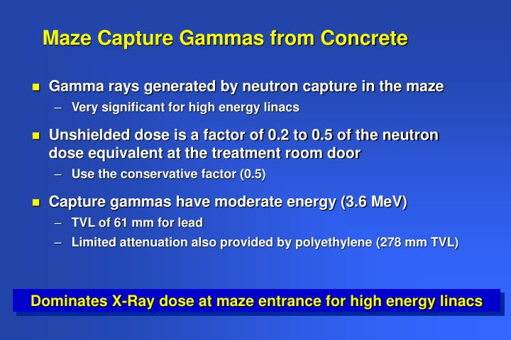 Maze Capture Gammas from Concrete