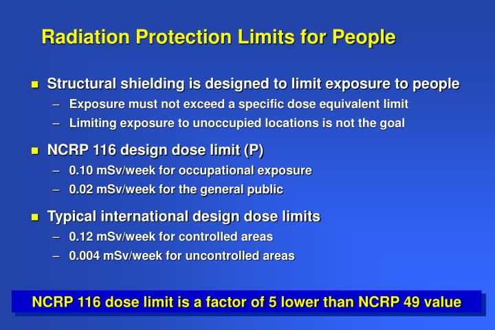 Radiation Protection Limits for People