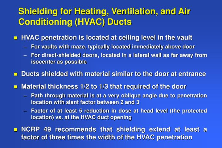 Shielding for Heating, Ventilation, and Air Conditioning (HVAC) Ducts