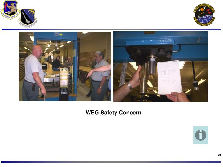 WEG Safety Concern