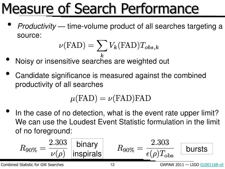 Measure of Search Performance