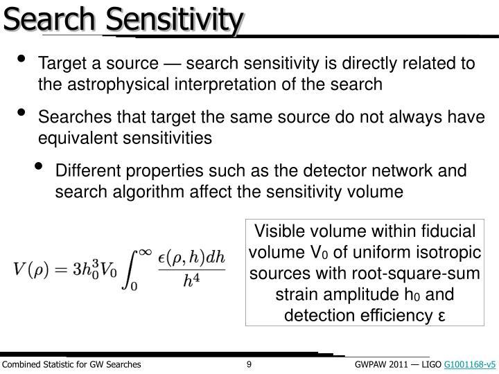 Search Sensitivity