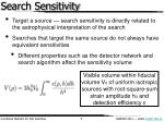 search sensitivity