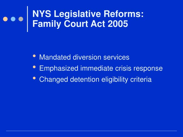 NYS Legislative Reforms:
