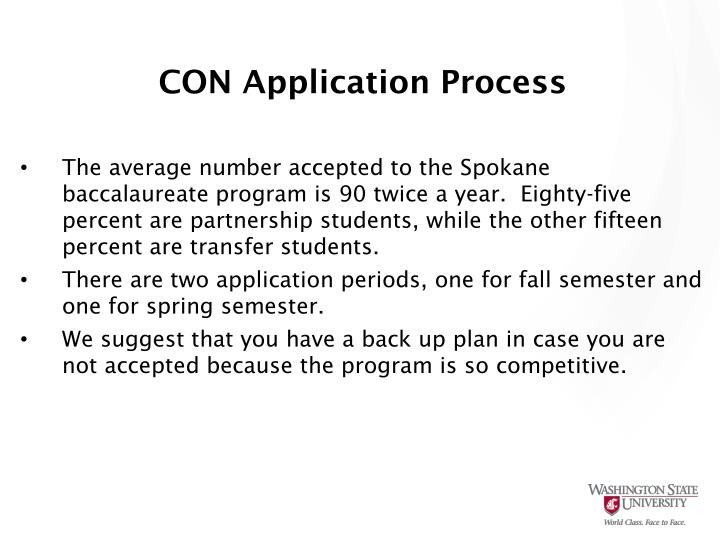 CON Application Process