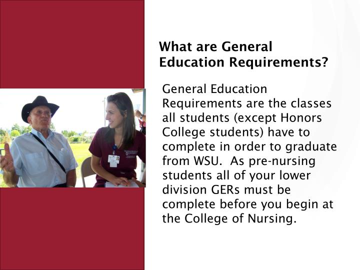 What are General Education Requirements?