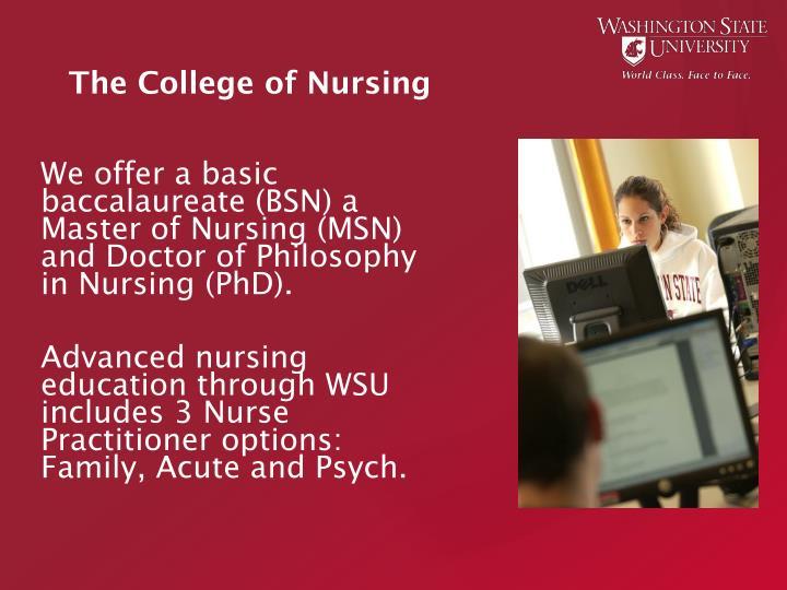The College of Nursing