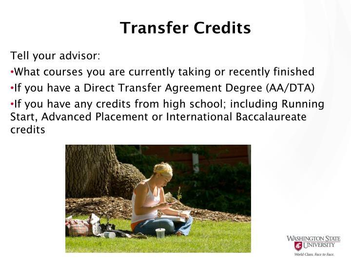Transfer Credits