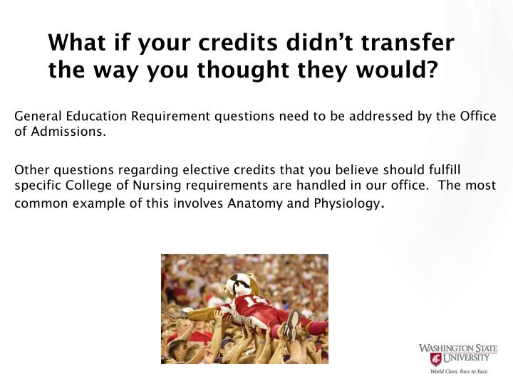 What if your credits didn't transfer the way you thought they would?