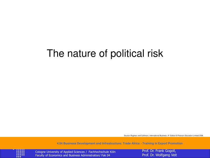 The nature of political risk