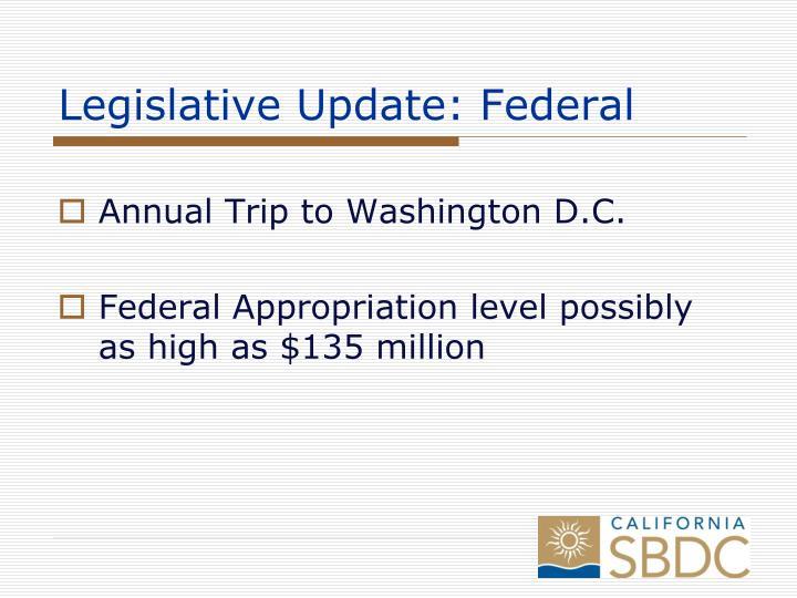 Legislative Update: Federal