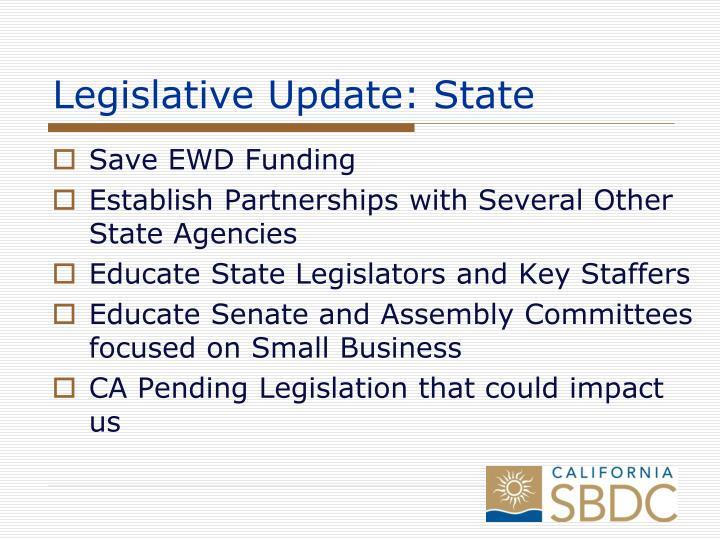 Legislative Update: State