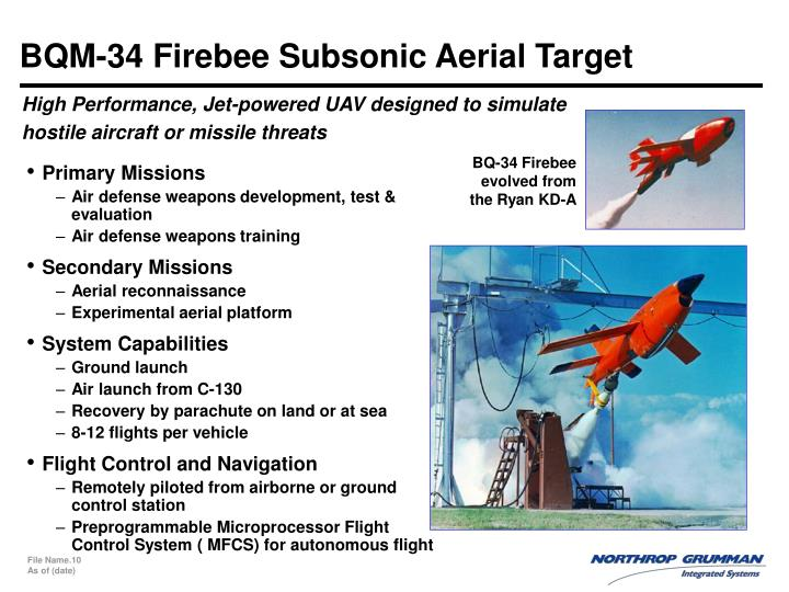BQM-34 Firebee Subsonic Aerial Target