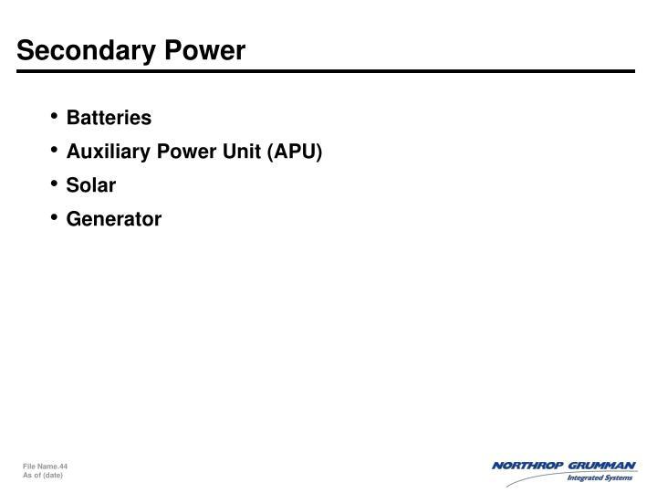 Secondary Power