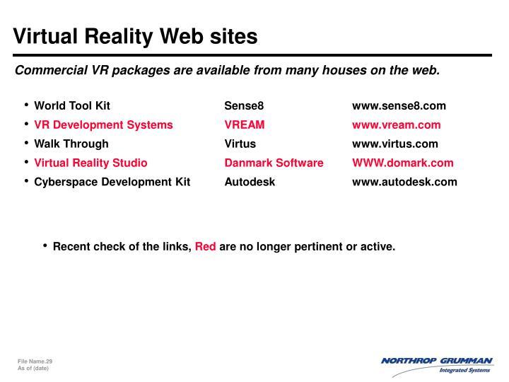 Virtual Reality Web sites