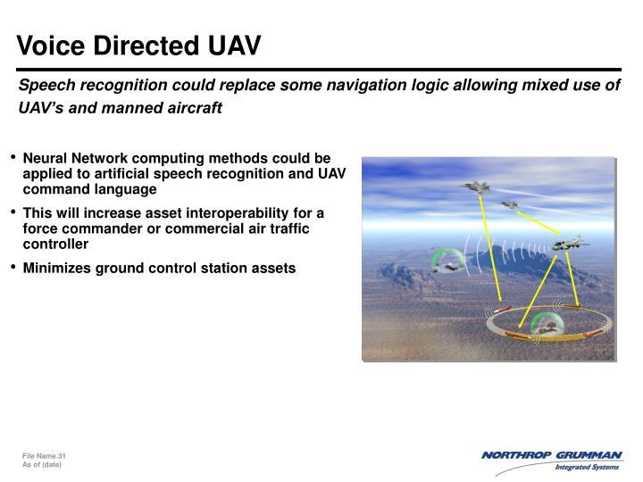 Voice Directed UAV