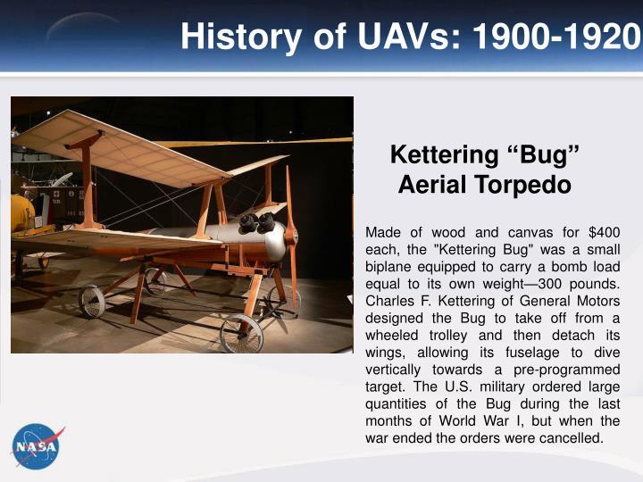 History of UAVs: 1900-1920