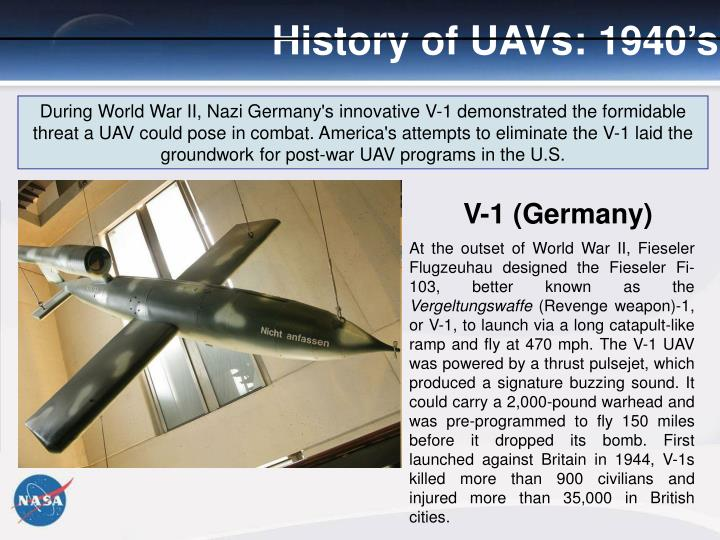 History of UAVs: 1940's