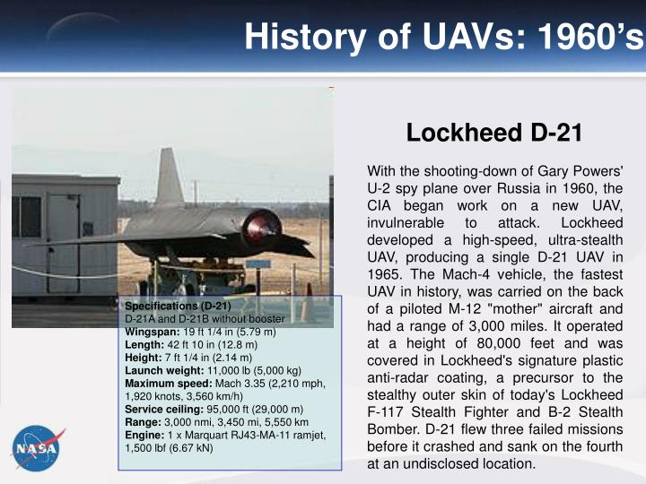 History of UAVs: 1960's