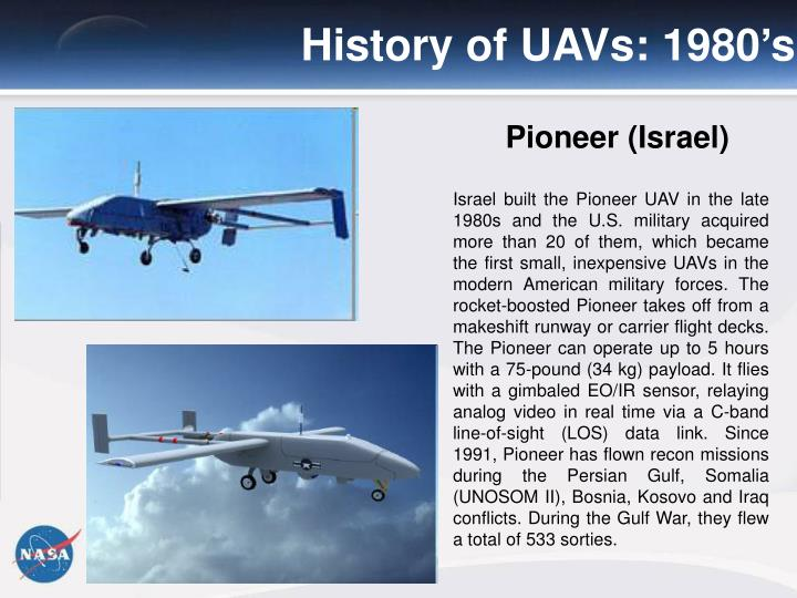History of UAVs: 1980's