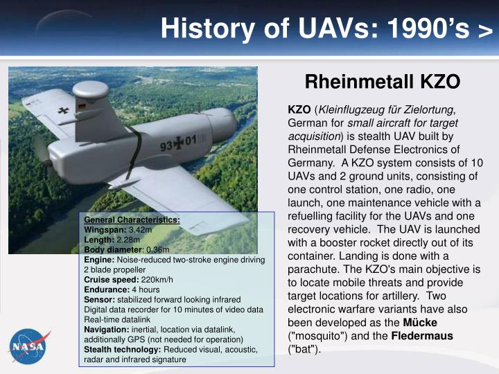 History of UAVs: 1990's >