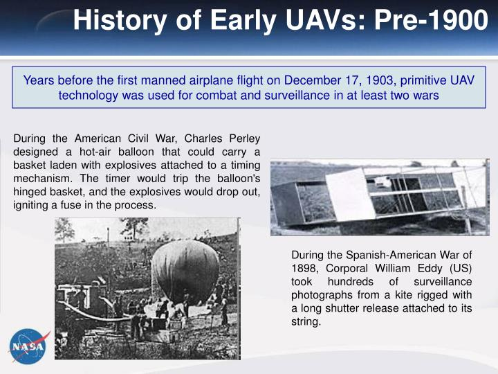 History of Early UAVs: Pre-1900