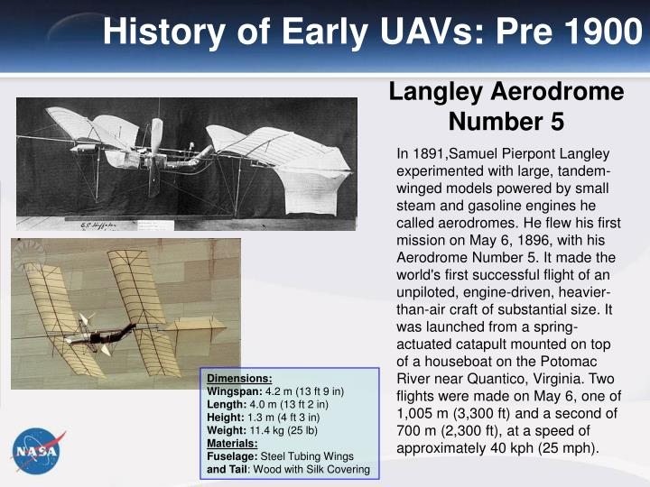 History of Early UAVs: Pre 1900