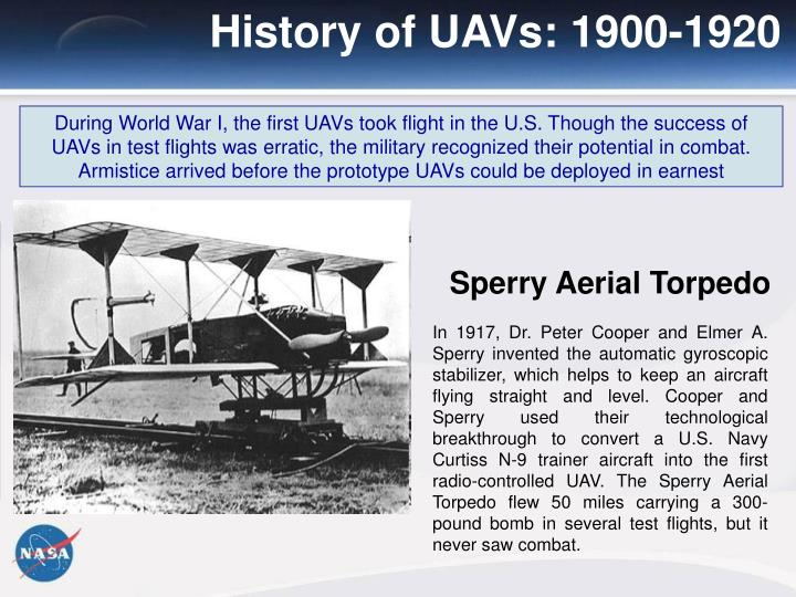 History of UAVs: 1900-1920