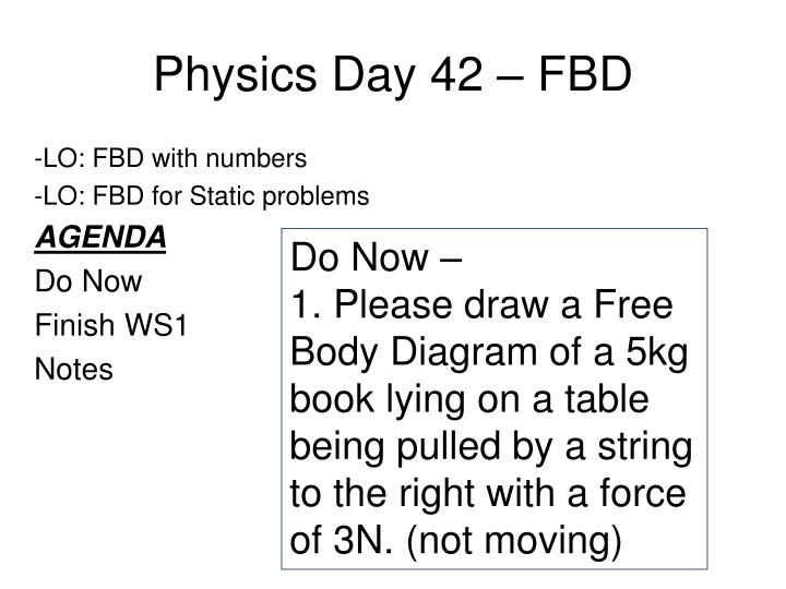 Physics day 42 fbd
