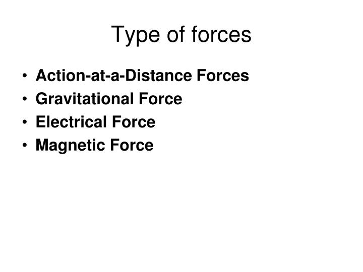 Type of forces